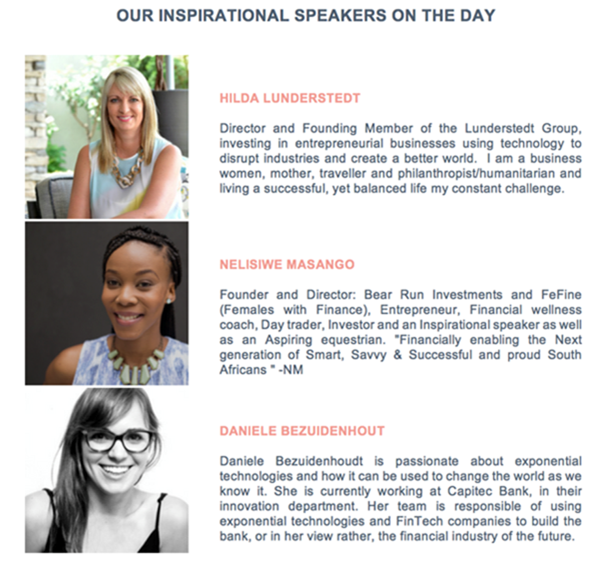 Women and Wealth speakers